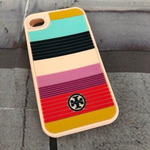 Tory Burch iPhone 4 phone Case Soft Striped